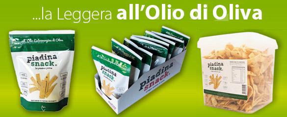 Piadina snack olio oliva busta espositore cesto