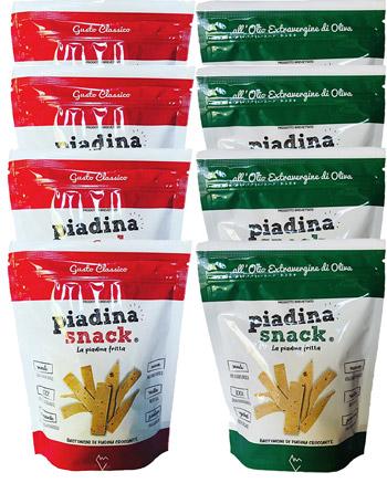 sacchetti piadina snack rosso e verde