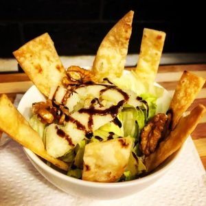 piadina fritta e insalata